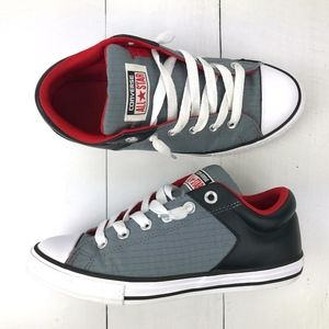 Converse Chuck Taylor All Star Grey/Blk/Red Youth6